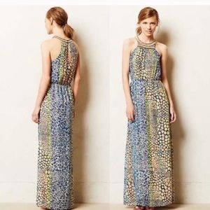 Anthropologie HD in Paris beaded maxi dress